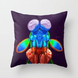 Intense Mantis Shrimp Throw Pillow