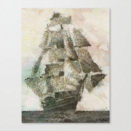 Mary Celeste - a ghost ship Canvas Print