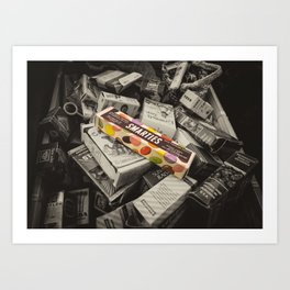 Only Smarties have the answer  Art Print