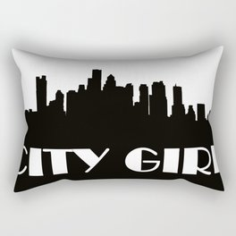 CITY GIRL BLACK SILHOUETTE Rectangular Pillow
