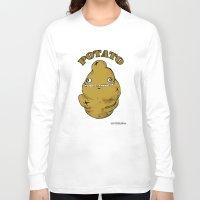 potato Long Sleeve T-shirts featuring POTATO  by Michelena