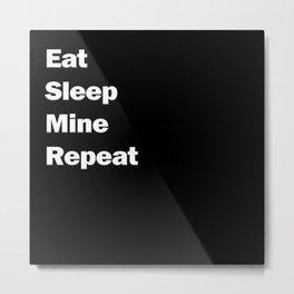 Eat, Sleep, Mine, Repeat Metal Print