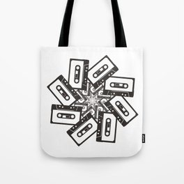 Mix Tape Whirl Tote Bag