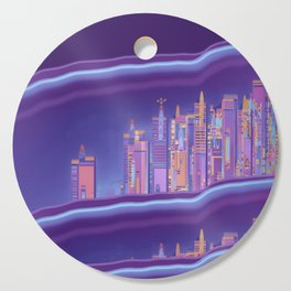 Saturnian Ultraviolet Wave Two Cutting Board