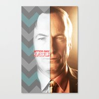 better call saul Canvas Prints featuring BETTER CALL SAUL by Ylenia Pizzetti