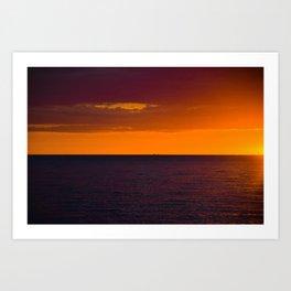 Sunset, Pacific Ocean Art Print