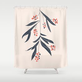 Mistletoe and love Shower Curtain