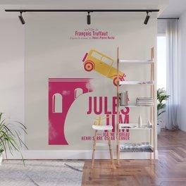 Jules et Jim, François Truffaut, minimal movie Poster, Jeanne Moreau, french film, nouvelle vague Wall Mural