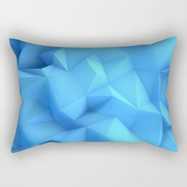 Pale Blue Geometric / Pale Blue Crystal / Geometric Pattern, Abstract Pattern, abstract ocean waves Rectangular Pillow