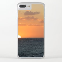 Sunset at Great Barrier Reef Clear iPhone Case