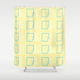 By Faith (teal & yellow) Shower Curtain