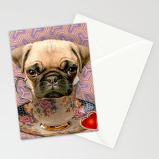 A little pug of tea Stationery Cards