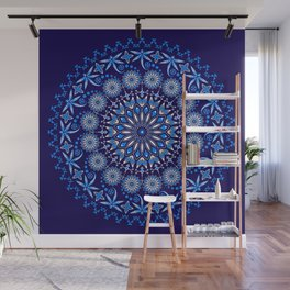Ancestors Dragonfly (Blue) Wall Mural