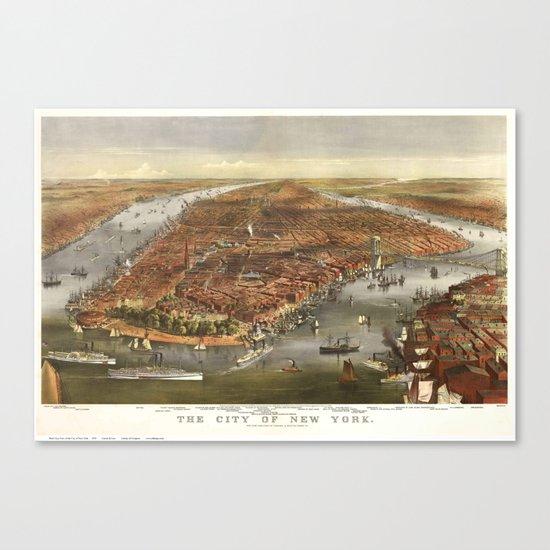 New York 1870 Canvas Print