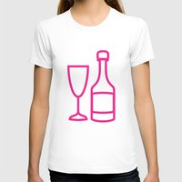 champagne T-shirts featuring ICNSRS - Champagne by Sillustration