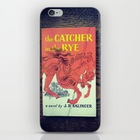 catcher in the rye iPhone & iPod Skins featuring The Catcher In The Rye by Anano