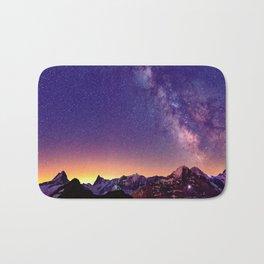 Sunset Mountain #stars Bath Mat