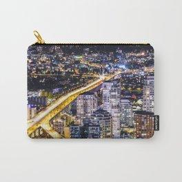 1428 Voyeuristic Vancouver Cityscape Golden Bridge Carry-All Pouch