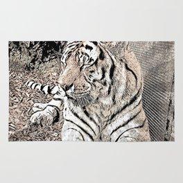 Impressive Animal, Tiger 4 Rug