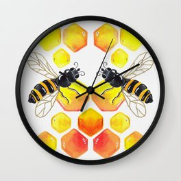 Honey Bee Wall Clock
