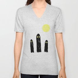Little ghostie boos Unisex V-Neck