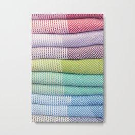 Colorful Towel Stack Metal Print
