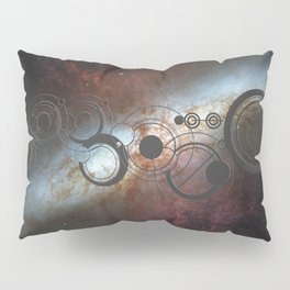 Doctor Who Allons-y Gallifrey  with the Starburst Galaxy M82 Pillow Sham