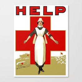 Vintage Red Cross -- Help Nurse Canvas Print