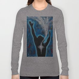 Holy Spirit Worship art Long Sleeve T-shirt