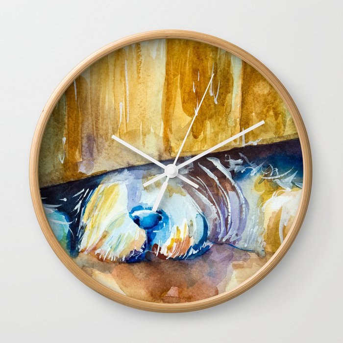 who is there? Wall Clock