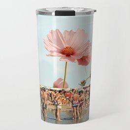 Vintage Flower Beach Travel Mug