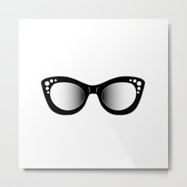 hipster fashion cat eye sunglasses or eyewear Metal Print