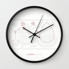 Hungarian Embroidery no.13 Wall Clock