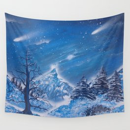 Snowy Wonderland Wall Tapestry