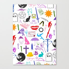 Buffy Symbology, Multi-color / Rainbow / PRIDE! Canvas Print