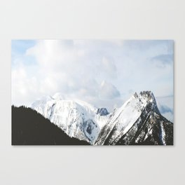 Splice through the clouds Canvas Print