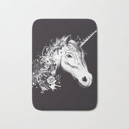 Head of a unicorn Bath Mat