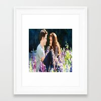saga Framed Art Prints featuring Twilight saga by Duitk