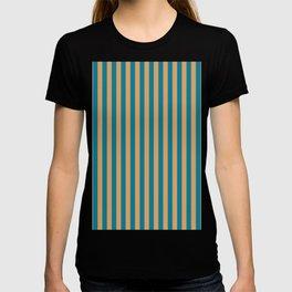 Laguna Blue and Mango Stripes T-shirt