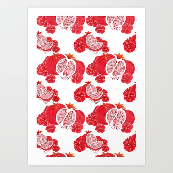 Pome and Holly Art Print
