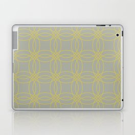 Simply Vintage Link in Mod Yellow on Retro Gray Laptop & iPad Skin