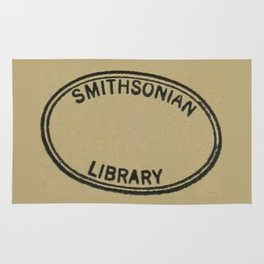 Smithsonian library stamp Rug