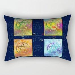 Four Seasons Pentacle Poster Rectangular Pillow