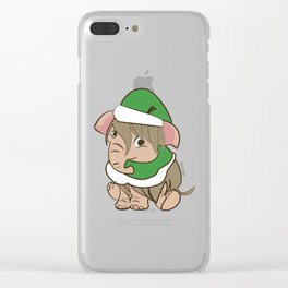 Xmas mammoth #3 Clear iPhone Case