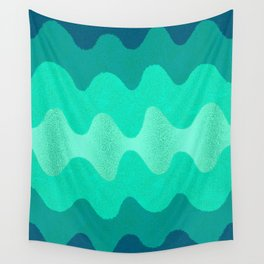 Retro Curves Seaside Wall Tapestry
