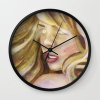 bad wolf Wall Clocks featuring Bad Wolf by rointheta