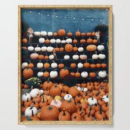 Pumpkins for Sale (Color) Serving Tray