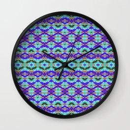 Feathery Tie Dye Wall Clock