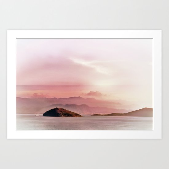 Islands in the distance Art Print