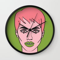 mod Wall Clocks featuring Mod by Grace Teaney Art